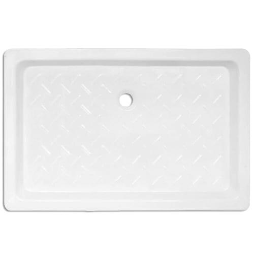 Plato de ducha cerámico rectangular Blanco