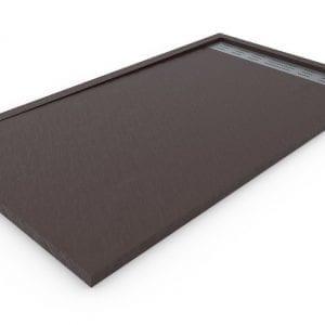 Plato de ducha de resina Chocolate con marco