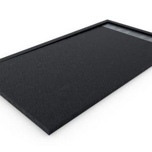 Plato de ducha de resina Negro con marco