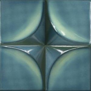 Vertex Curve Turquoise 15×15