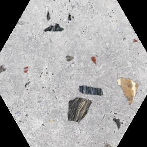 Azulejo Sonar Silver 22×25 Hexagonal