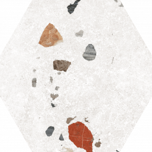 Azulejo Sonar White 22×25 Hexagonal