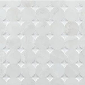 Bibury Mosaic White Brillo 33,3×90 Rectificado – pasta blanca